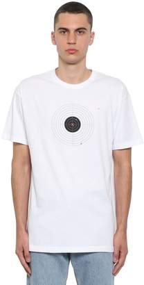Vetements Printed Target Cotton Jersey T-Shirt