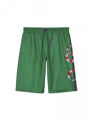Gucci Web and Snake jersey short $820 thestylecure.com