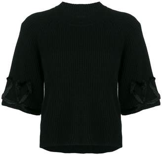 Fendi ribbed knitted top