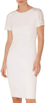 Akris Punto Lace Trim Jersey Dress