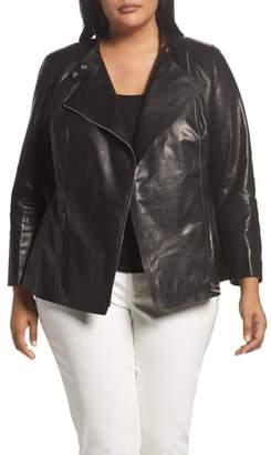 Lafayette 148 New York Presley Moto Leather Jacket