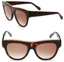 Stella McCartney 51MM Flat Top Round Sunglasses