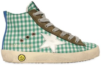 Golden Goose Francy Gingham High Top Sneakers