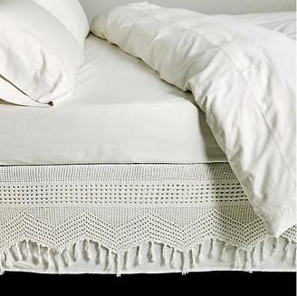 Pom Pom at Home Crochet Bed Skirt - White