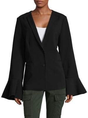 Saks Fifth Avenue Ruffle Sleeve Blazer