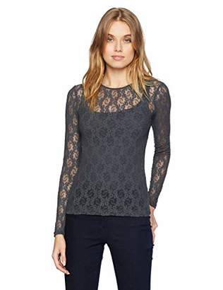 Only Hearts Women's Stretch Lace Crew Neck T