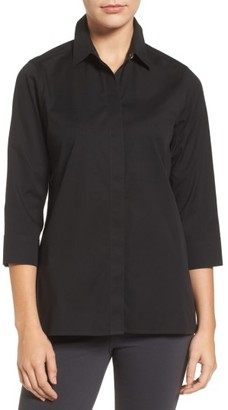 Women's Foxcroft Gigi Stretch Cotton Tunic $89 thestylecure.com