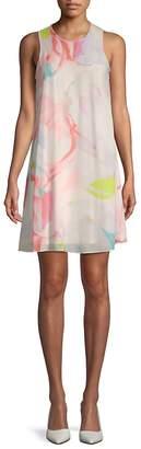 Calvin Klein Women's Floral Chiffon Trapeze Dress
