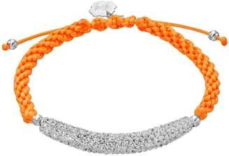Florida Gators Crystal Sterling Silver Bar Link & Team Logo Charm Slipknot Bracelet