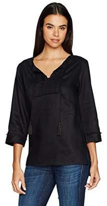 Jones New York Women's Novelty Linen Tunic