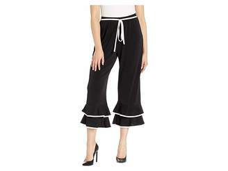 ECI Double Tiered Cha Cha Pants with Piping Detail Women's Casual Pants
