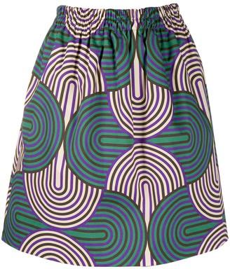 La DoubleJ Pouf geometric print skirt
