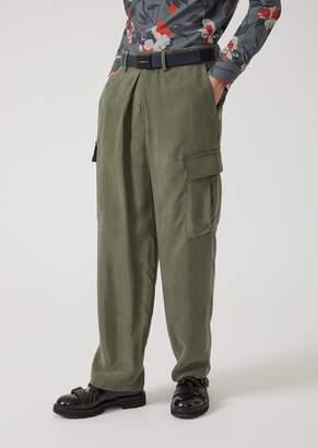 Emporio Armani Cupro Cargo Pants