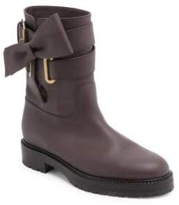 Valentino Bowrap Leather Biker Boots