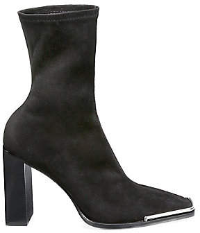 Alexander Wang Women's Mascha Stretch Suede Ankle Boots