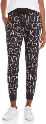 Love Moschino Black Logo Printed Sweatpants