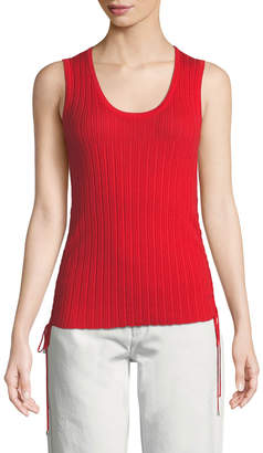 Roberto Cavalli Ribbed Lace-Up Tank