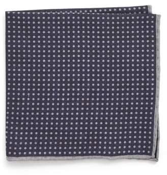 Eleventy Dot Wool & Cotton Pocket Square