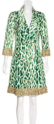 Christian Dior Embellished Silk Coat