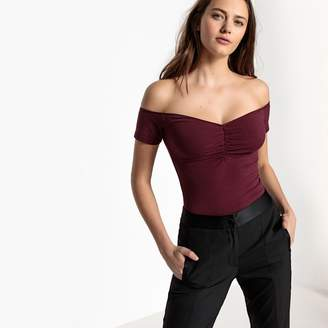 La Redoute Collections Short-Sleeved Bardot Body