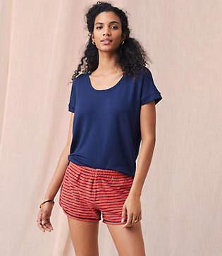 Lou & Grey Striped Garment Dye Shorts