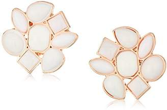 T Tahari Womens Marina Club Clip On Earrings With Stones