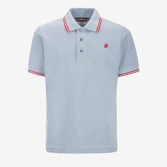 Bally Striped Neck Polo Shirt