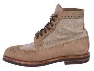 Brunello Cucinelli Wool & Suede Boots