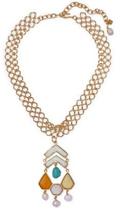 Loulou de la Falaise - Gold-plated Multi-stone Necklace