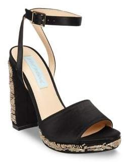 Betsey Johnson Carin Satin Ankle-Strap Sandals