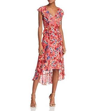 Parker Women's Annabel Flutter Sleeve Front Zipper high Low Dress