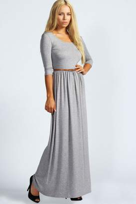 boohoo Scoop Neck Elasticated Waist Maxi Dress