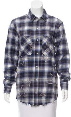 Amiri Embellished Flannel Top w/ Tags