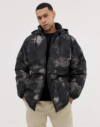 e2fb58796460c Asos Design DESIGN parka jacket in dark camo print