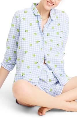 J.Crew Lemon Lime Short Pajamas