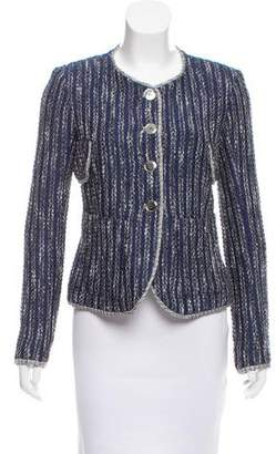 Theyskens' Theory Tweed Collarless Blazer