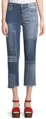 True Religion Stovepipe Deconstructed Patchwork Jeans