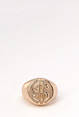 Forever 21 Money Sign Ring