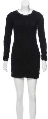 Rag & Bone Leather-Accented Distressed Dress