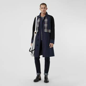 Burberry Check Detail Tropical Gabardine Car Coat