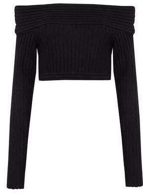 Diane von Furstenberg Off-The-Shoulder Ribbed Merino Wool-Blend Sweater