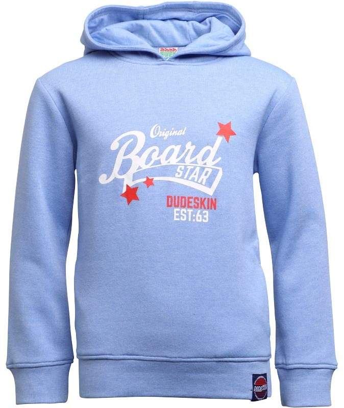 Dudeskin Boys Logo Hoody Light Blue Marl