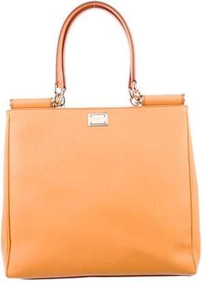 Dolce & Gabbana Shopping Vitello Leather Dauphine Tote