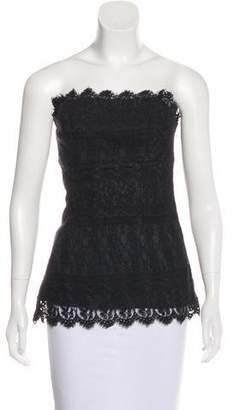 Anna Sui Strapless Lace Top
