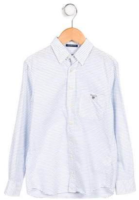 Gant Kids Boys' Striped Long Sleeve Shirt