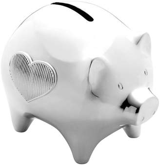 Wedgwood Silver-plate baby piggy bank