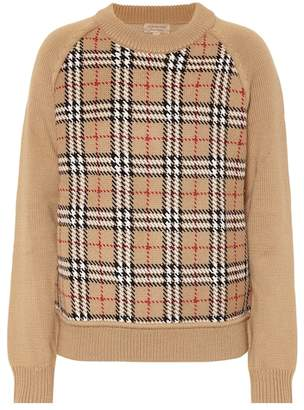 Burberry Checked wool jacquard sweater