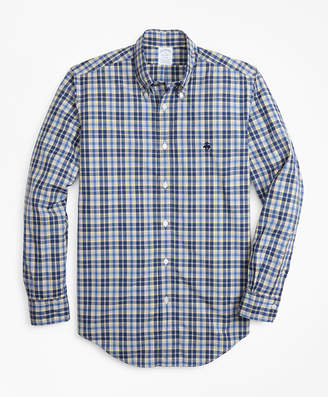 Brooks Brothers Regent Fit Graph Plaid Zephyr Sport Shirt