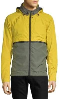 Scotch & Soda Colourblock Hooded Nylon Jacket
