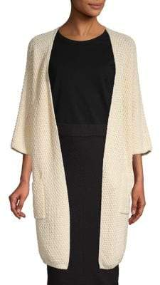 Loro Piana Textured Cotton & Silk Cardigan